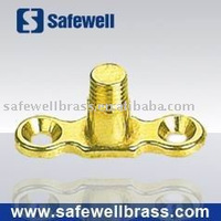 Male brass backlate clamp