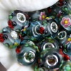 New fashion lampwork glass beads with animal image NPB0008