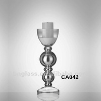 Middle Size Glass Wedding Candle Stand