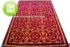 woollen traditional door mat in red back factory