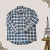 100 cotton plaid long sleeve man shirt