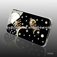 luxury phone case diamond 4 S cell with fish bone