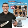 hot sell TV shopping Samurai Pro professional Knife Sharpe hand held knife sharpenerner with suction pad