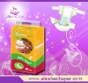 Top quality baby diaper with magic tape
