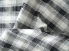 Polyester/ Nylon Checked Woven Fabric Material