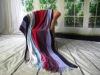 100%Acrylic colorful stripe crochet beach shawl