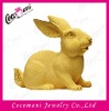 Promotional gift fabric gold placer handicrafts animal hare/rabbit