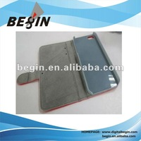 new design PU leather case with card slot for iphone5
