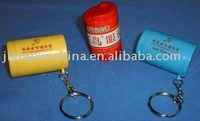 Plastic PS column coin holder with key chain
