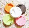 colorful silicone mug coffee lid with custom logo