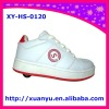 2011 new auto-button 1 wheel roller skate shoes