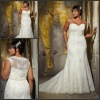 ML 3135 Sweetheart Floor Length With Lace Jacket Lace Plus Size Wedding Dress