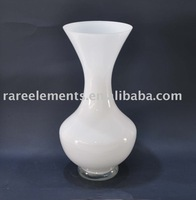 2011 modern white home decorative glass vase set