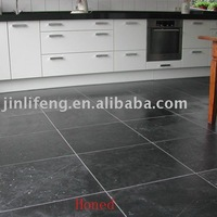 Honed Black Slate For Wall, Floor, Pool