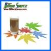 custom leaf drink cup silicone coaster
