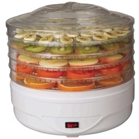 Food dehydrator with adjustable tray