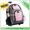 Pink Rolling Backpack For Girls