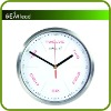 With Thermometer Hygrometer Stainless Steel Wall Clock
