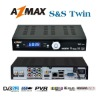 AZMAX S&S twin tuner south america receiver nagra3 decodicator with free genuine iks account