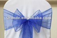 Royal blue organza chair cover sash/organza sash
