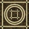 natural black stone round tile medallions