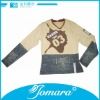 Washed antique cotton long sleeve boys casual wear