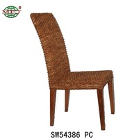 MFJ weaved rattan chair home furniture water hyacinth