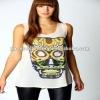 Printing skull chiffon woman shirts ( 7534#)