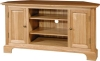 2 door and 2 shelf solid oak cornor TV cabinet