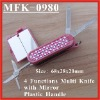 (MFK-0980) 4 Functions Jewelly Stone Handle with Mirror Mini Knife Tool