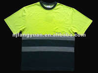 ANSI reflective safety t- shirt short sleeve