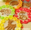 Jelly Colorful Cartoon animals Lace Coasters Heat-Proof Mat --5 colors,Min 200pcs can mix colors