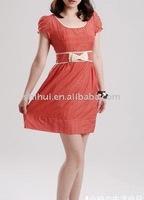 Cotton poplin dress with printing