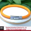 wholesale silicone bracelet with stainless steel clasp