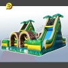 Inflatable Interactive Game, Inflatable Tropical Dual Lap Obstacle Challenge