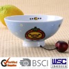 Promotional round shape porcelain rice with with decal printing