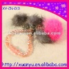 fashion hang key chain phone strap with fur and crystal