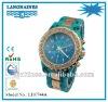 fashion blue rose gold waterproof quartz acrylic watch band LH0744A
