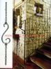 2012 New fashion style steel stair hand railing of Wrought iron