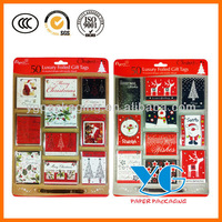 50 Luxury Foiled Chirstmas Xmas Gift Tags - 10 Assorted Designs Brand New