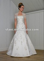 2012 Hot Sale Design Applique Bead Mermaid Wedding Dress