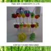 Fruit picks colorful drinking straws with box packing