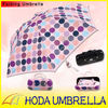 "19""x6k manual open pocket umbrella with dot design"