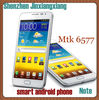 "Russian support!Smart Phone with TV Android 4.0 3G Phone 5.3"" I9220 Capacitive google 3D APK GPS game MT6577"