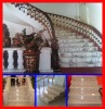 yellow granite or red stone and white stone staircase