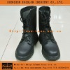 Military Black Leather Half Boots