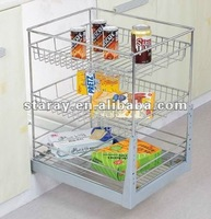 HPJ602 Kitchen Cabinet 3 Tier Basket