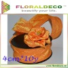 Crumpled Taffeta Wire Edge Ribbon