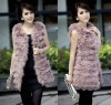 Fashion ostrich fur vest with lace/fur waistcoat