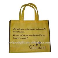 Nonwoven reusable shopping bag